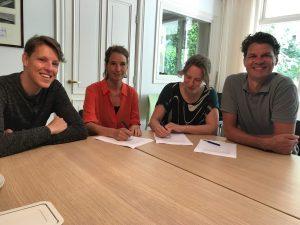Melle van Loenen, Rosanne Kropman, Janneke Louman en MB